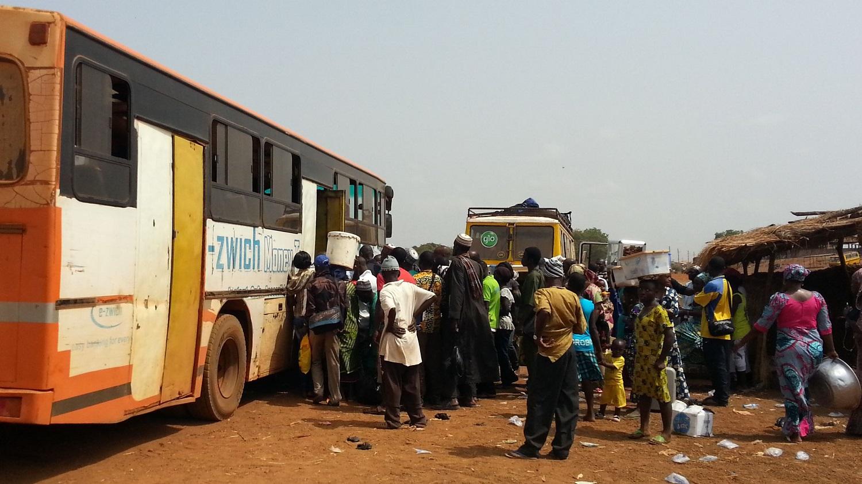 Busstur fra yeji til Tamale med metro mass