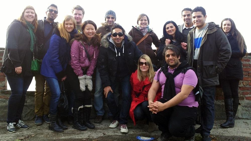 Fra et Couchsurfing treff i Oslo. Her var vi både lokale og reisende som møttes for å gå en tur i Oslo.