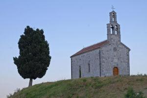 Lake Skadar kirke på toppen