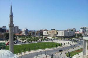 Tirana utsikt fra klokketårnet