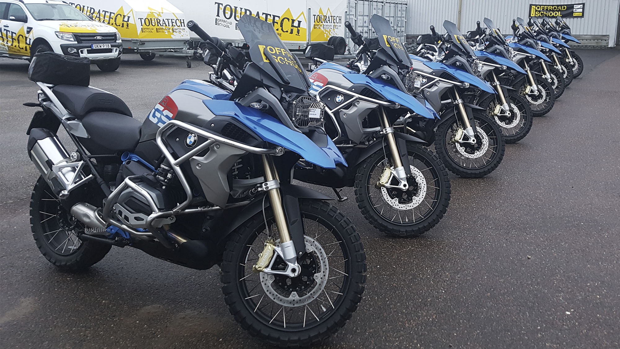 Klar for offroadkurs med Touratech Offroad Scholl