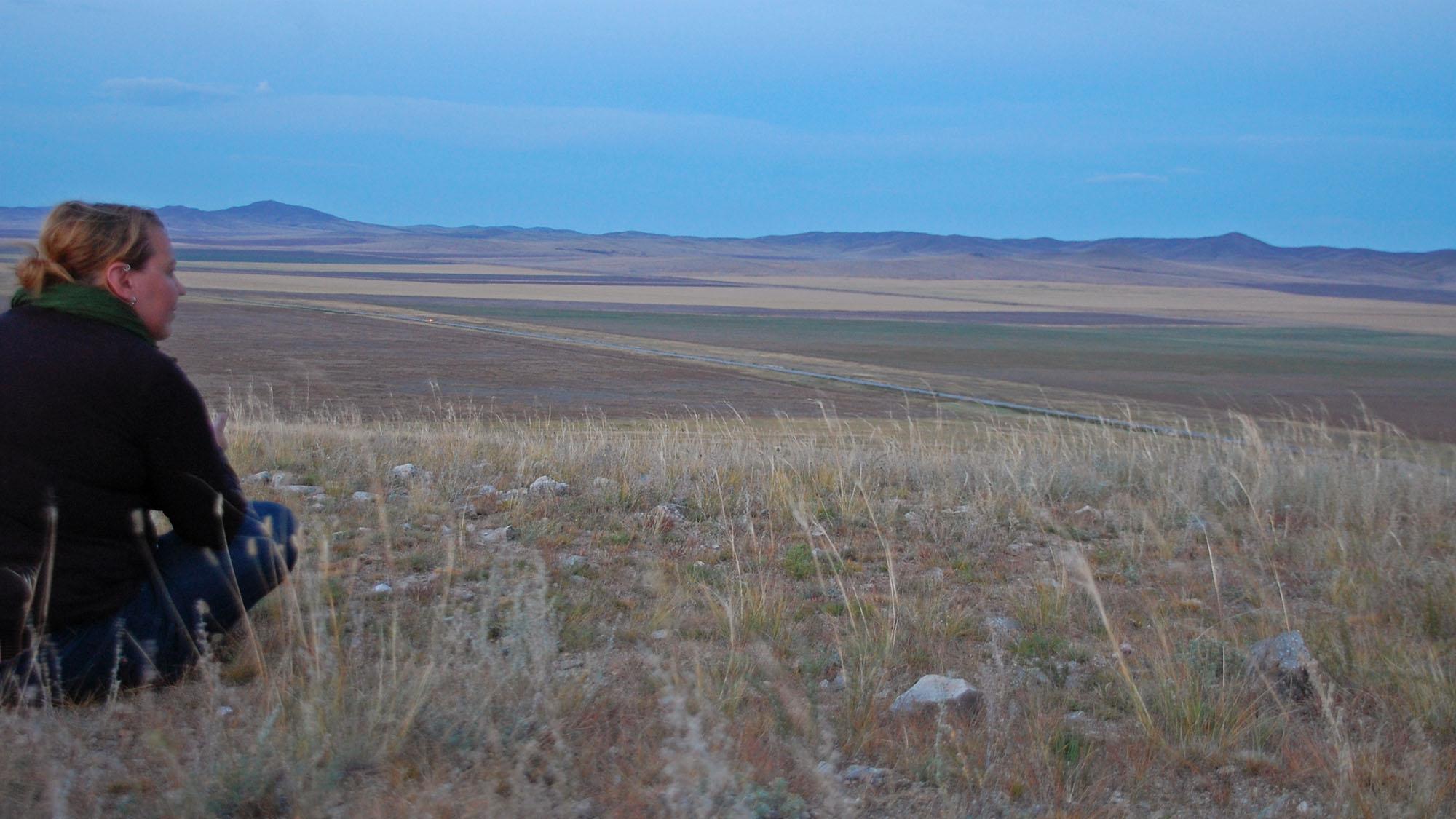 Noen ganger trengte jeg en stille stund, og da var det bare å finne et utsiktspunkt litt fra campen og trekke et par pust alene.
