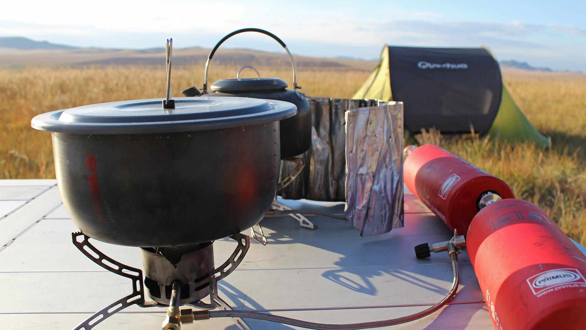 Med interesse for mat og to kokker som reisefølge ble det mange gode primusmåltider underveis. Foto: Gro H Andersen